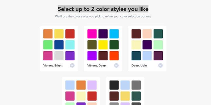 好みのカラー選択画面|Logojoy(ロゴジョイ)