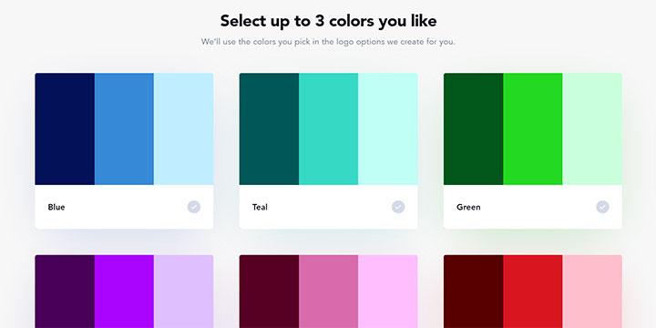 好きなカラー3色を選ぶ|Logojoy(ロゴジョイ)